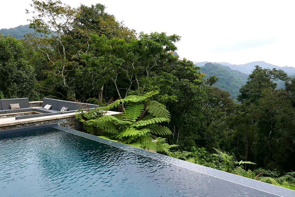 The pool at Nyungwe House near Nyungwe Forest National Park