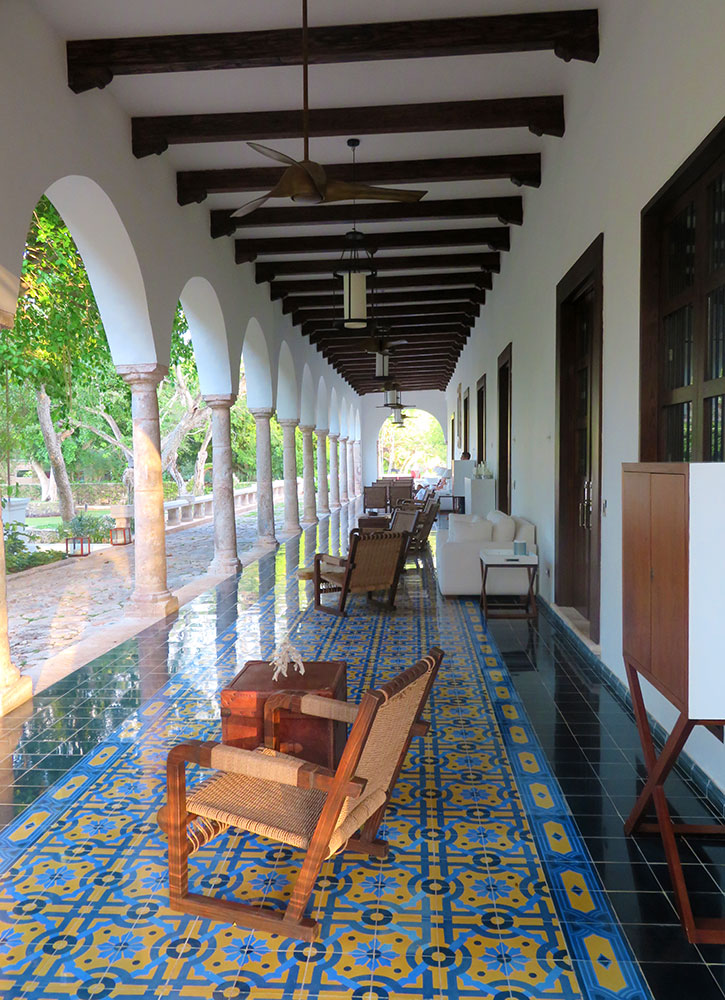 A patio at Chablé Resort in Chocholá, Mexico - Photo by Hideaway Report editor