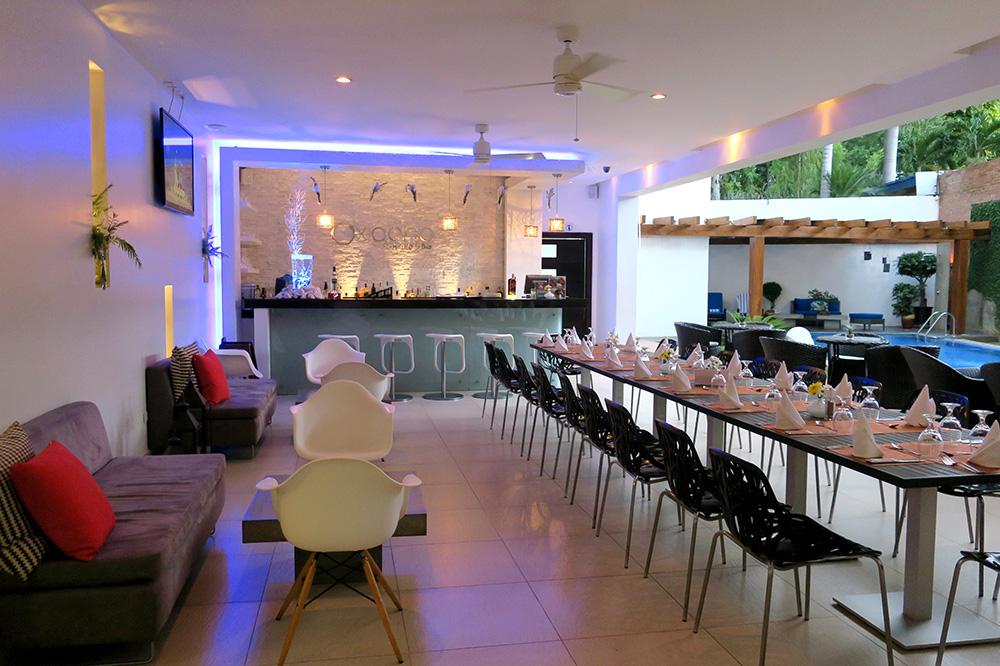 <em>OXIGENO Lounge & Bar</em> at Elements Hotel Boutique in Managua, Nicaragua