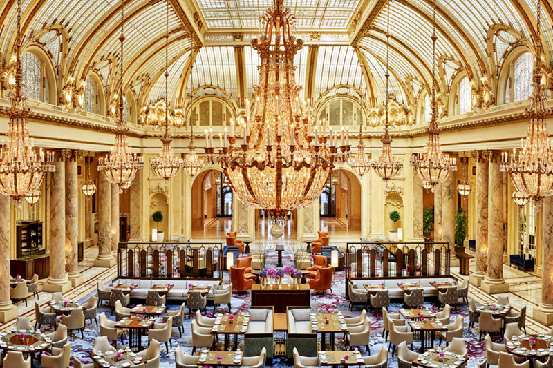 <em>Garden Court</em> restaurant and lounge at the Palace Hotel - © Jason Dewey