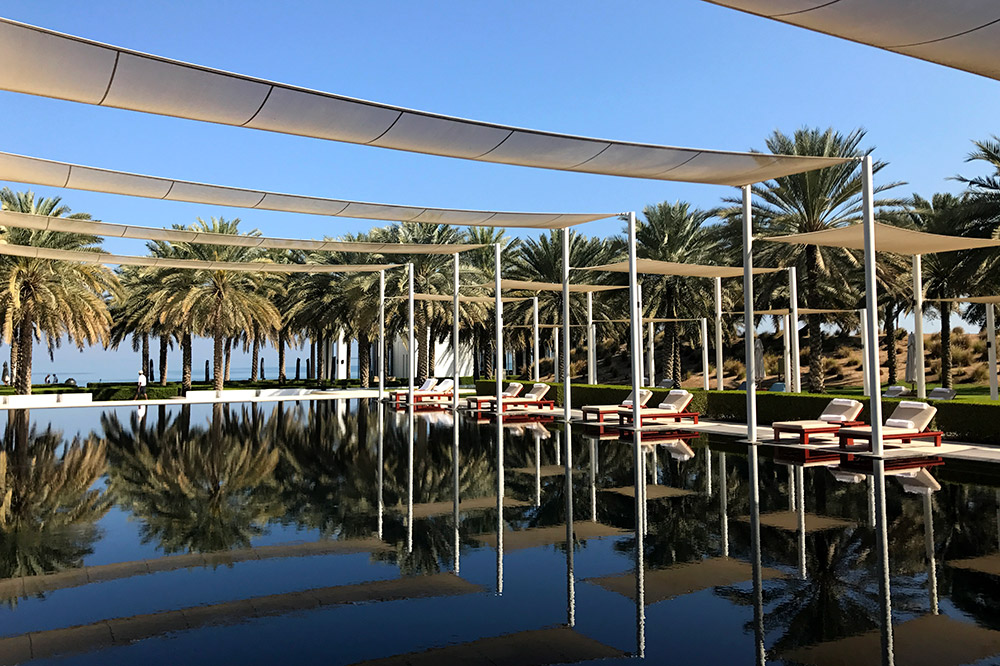 The Serai Pool at The Chedi Muscat in Muscat, Oman