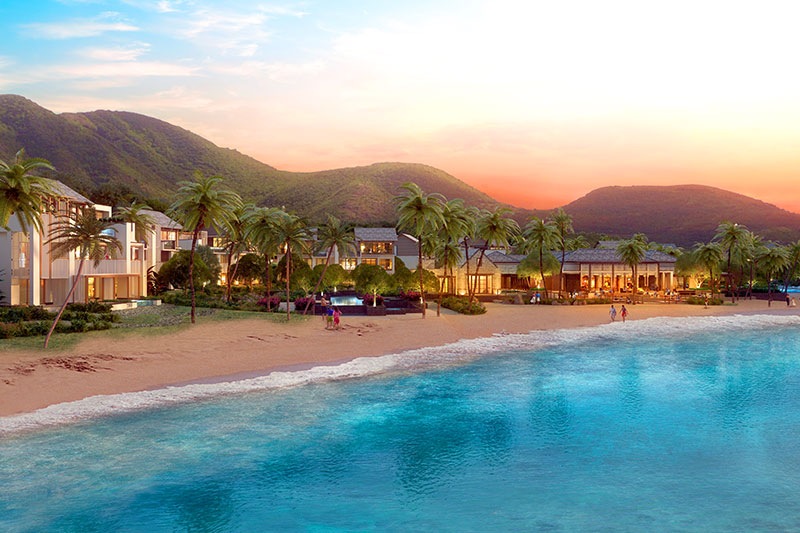 Beach along the new Park Hyatt St. Kitts - © Range Development Limited