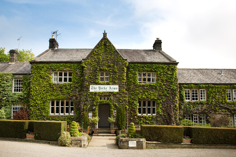 The exterior of <em>The Yorke Arms</em> in Ramsgill-in-Nidderdale, England