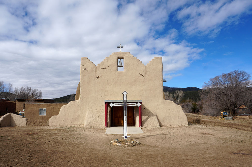 The church of the Picuris Pueblo in Taos County