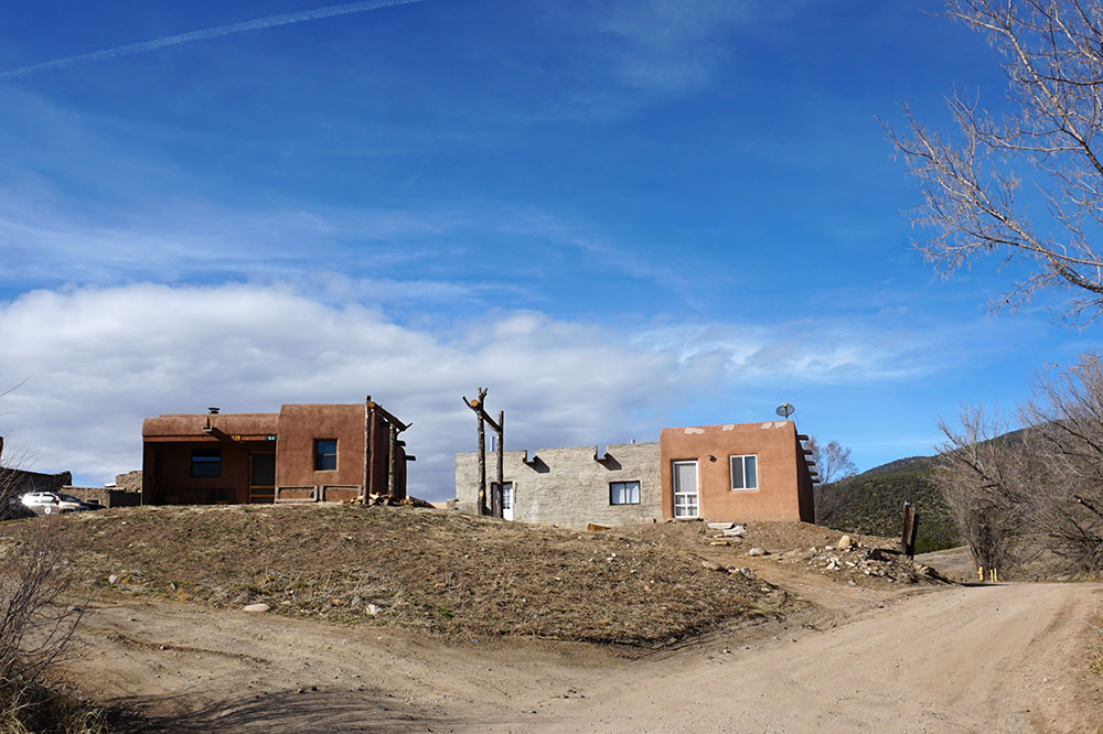 Buildings at the historic settlement outside Taos