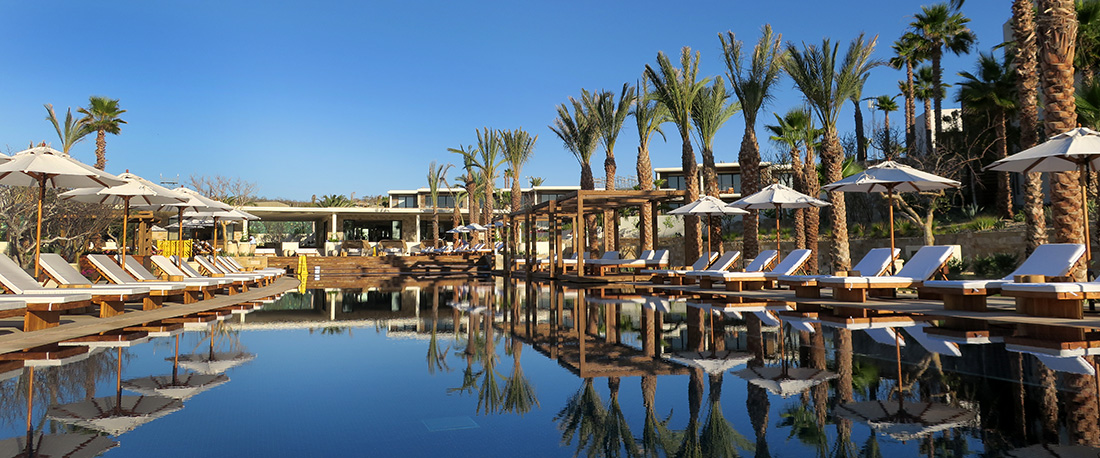 The pool at Chileno Bay Resort in Cabo San Lucas, Mexico - Photo by Hideaway Report editor