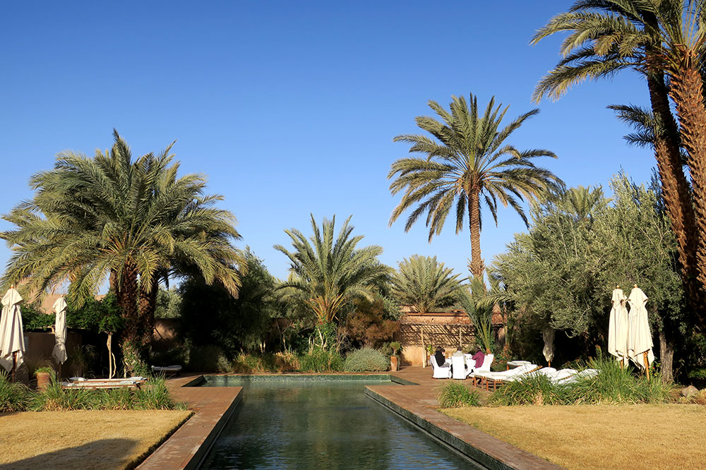 The pool at Dar Ahlam in Skoura, Morocco