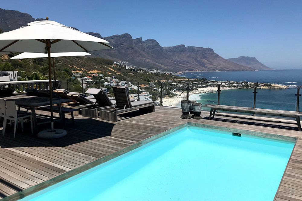 The pool at Cape View Clifton