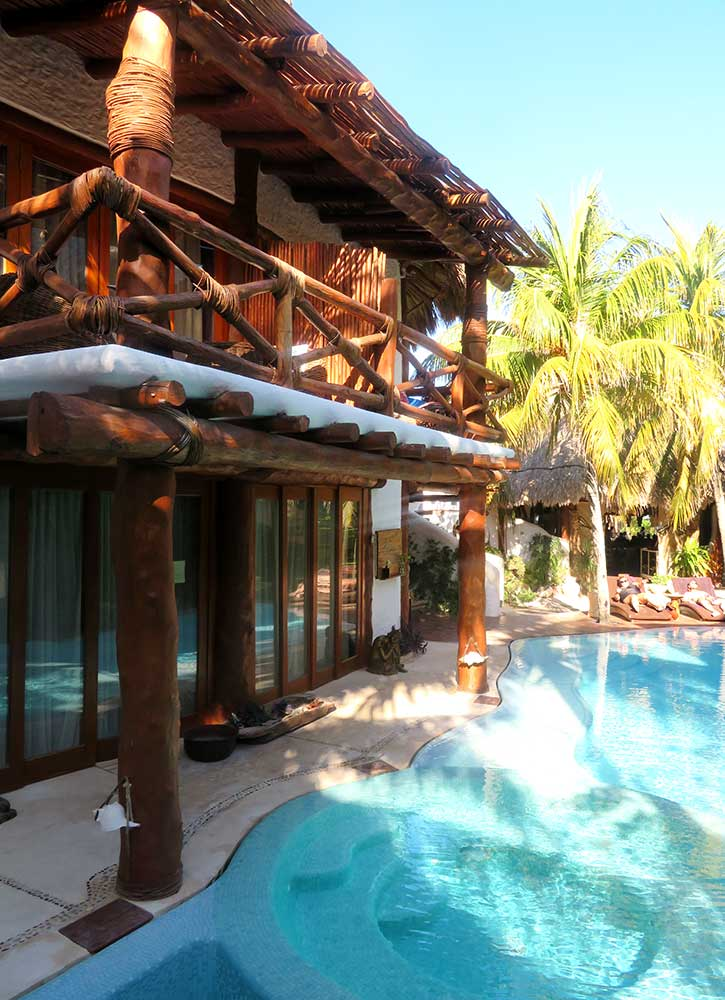 The pool at Casa Las Tortugas in Isla Holbox, Mexico - Photo by Hideaway Report editor