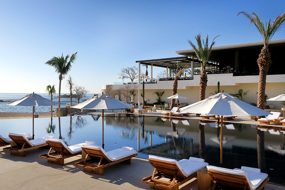 The pool at Chileno Bay Resort in Los Cabos, Mexico - Photo by Hideaway Report editor