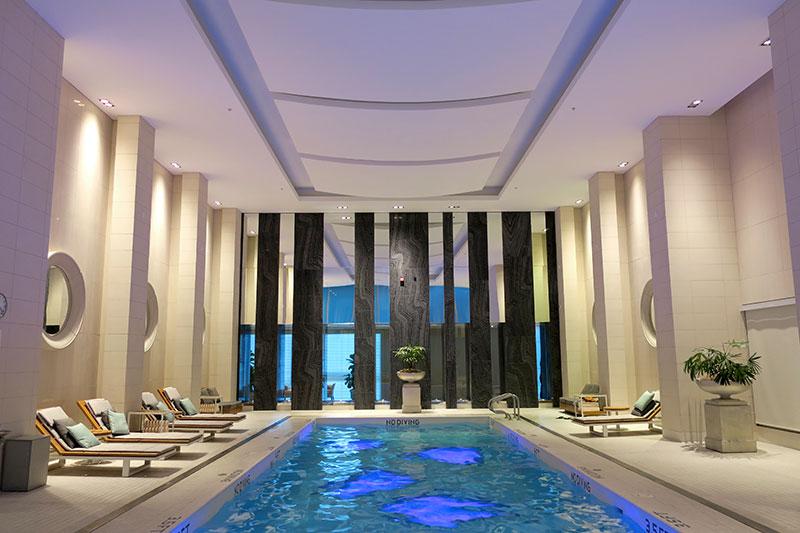 Indoor pool at Rosewood Hotel Georgia