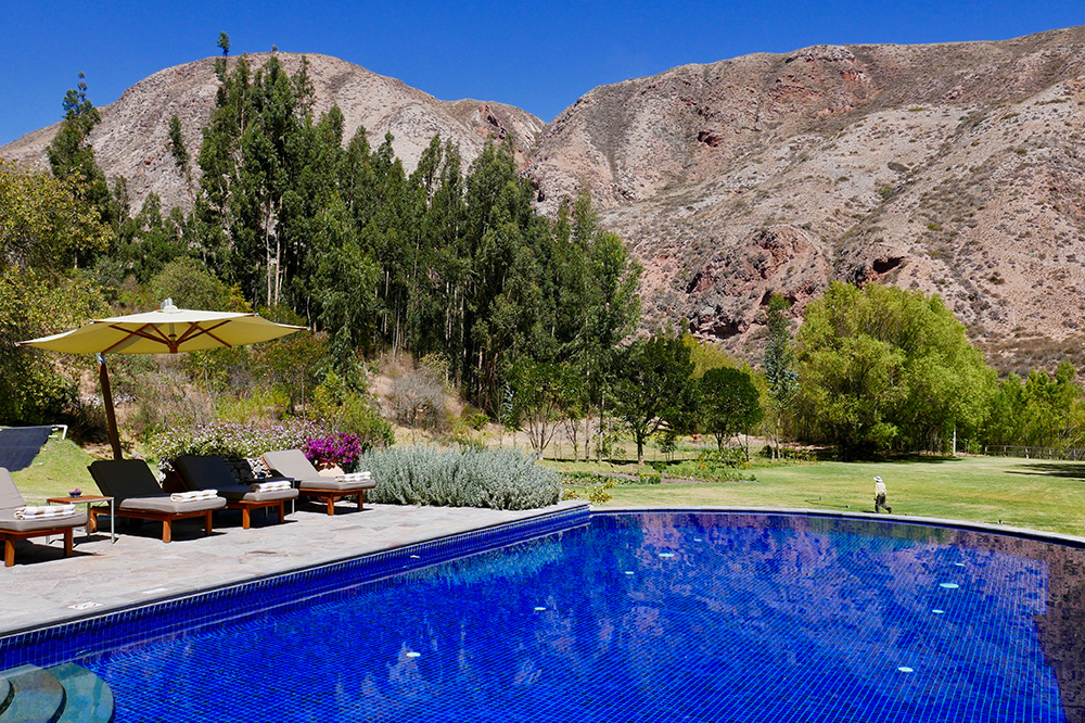 The pool at Belmond Hotel Rio Sagrado in the Sacred Valley, Peru - Photo by Hideaway Report editor