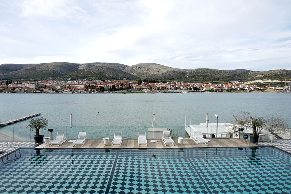 The view from the pool at Brown Beach House in Trogir