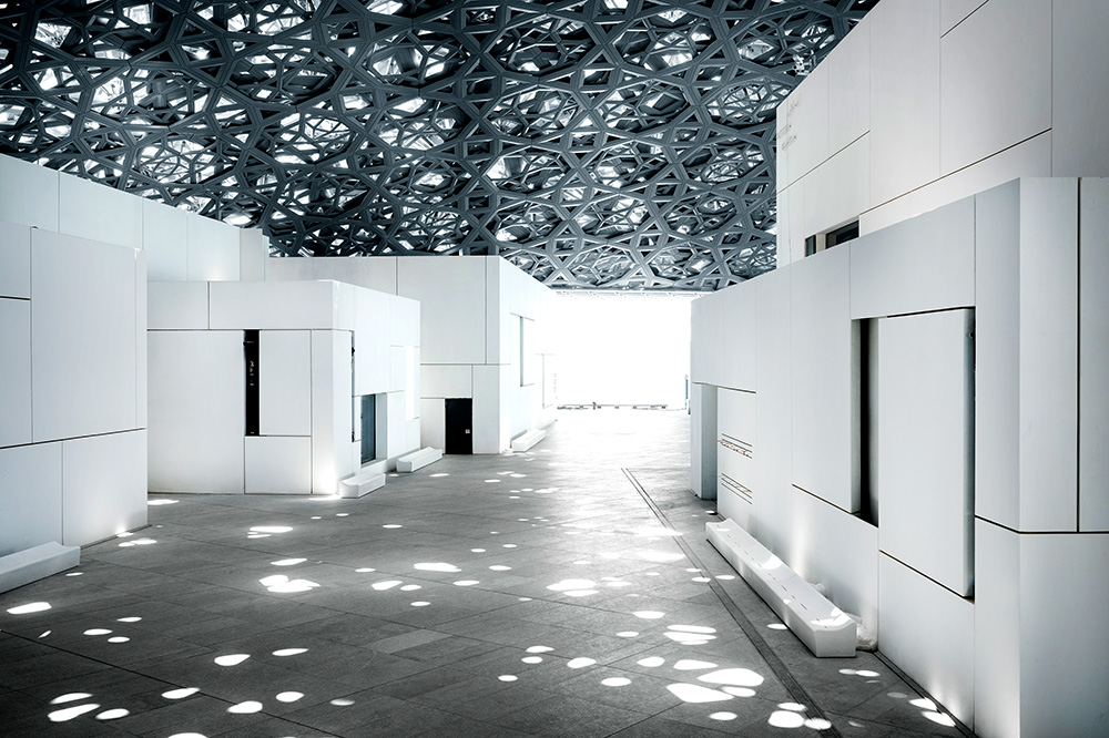 "Louvre Abu Dhabi's ""rain of light"" © Louvre Abu Dhabi"