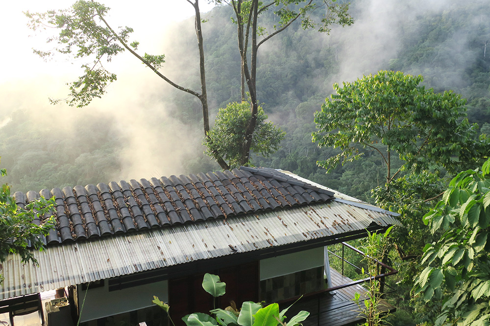 The exterior of the spa at Rancho Pacifico in Uvita de Osa, Costa Rica, where we received our coffee scrub