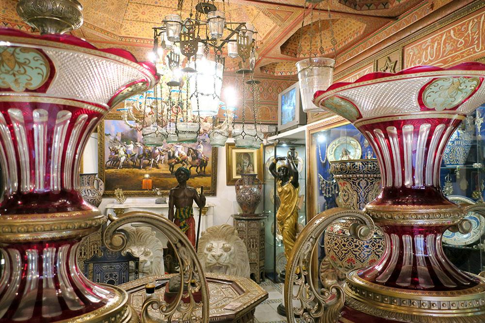 The interior of R'Bati, an antique shop
