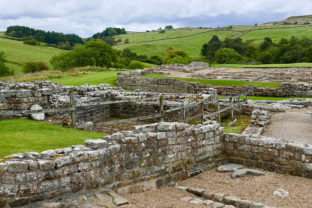 The remains of a Roman fort at Vindolanda in Northumberland, England - Photo by Hideaway Report editor