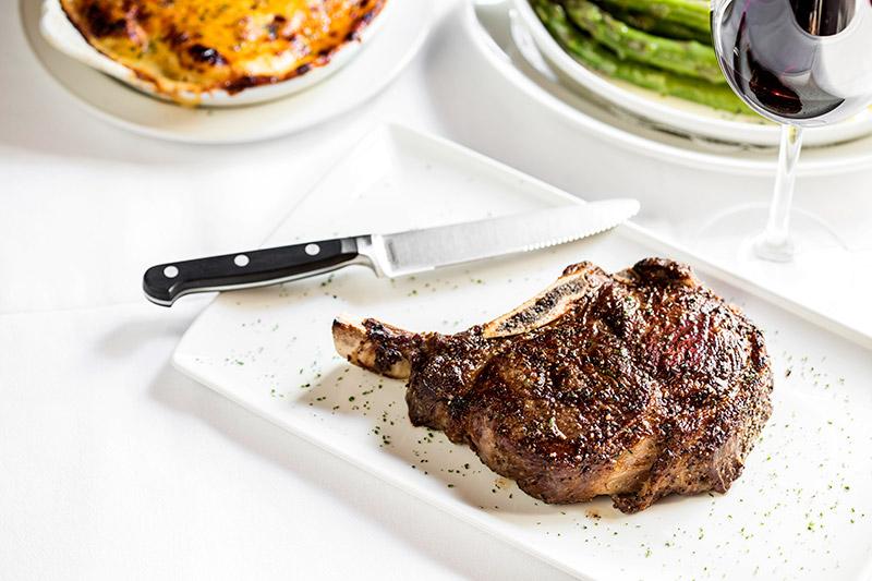 Bone-in prime rib-eye steak at <em>Pappas Bros.</em>