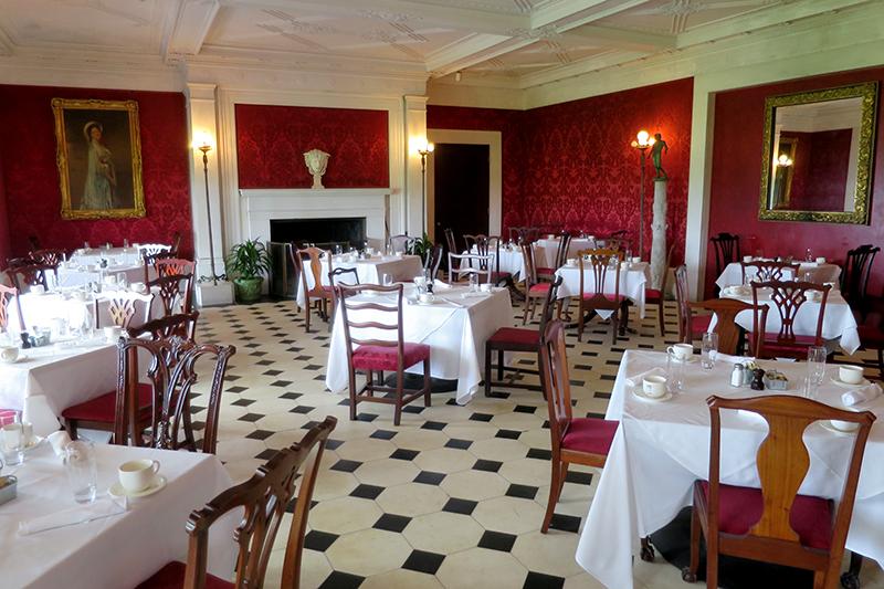 Dining room at The Inn at Shelburne Farms
