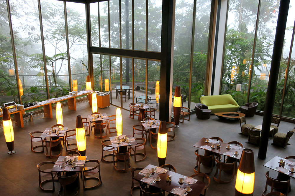 Dining room at Mashpi Lodge