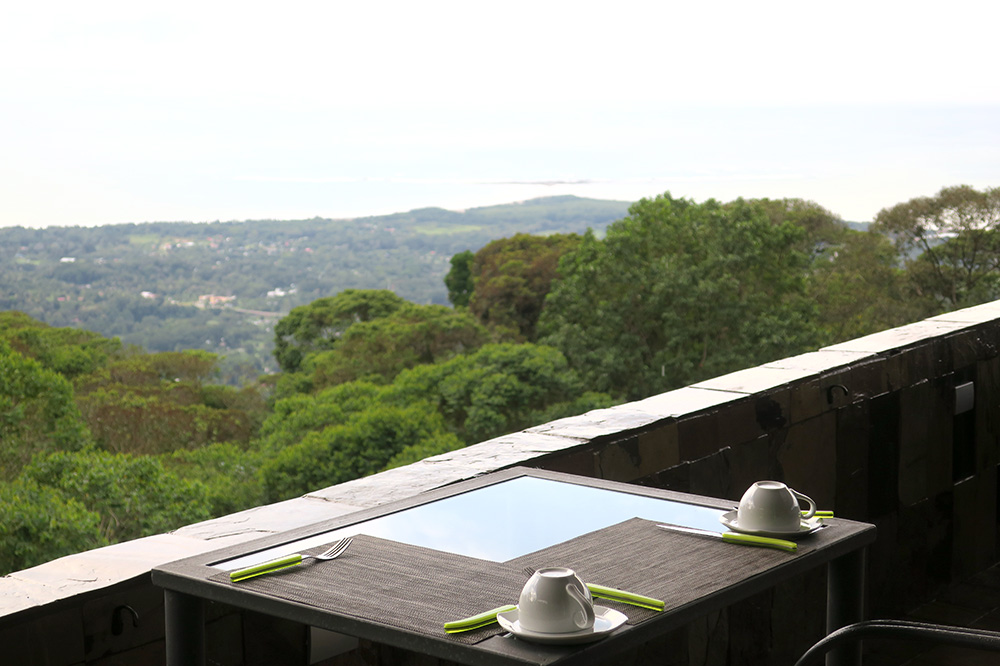 The view from the restaurant at Rancho Pacifico in Uvita de Osa, Costa Rica