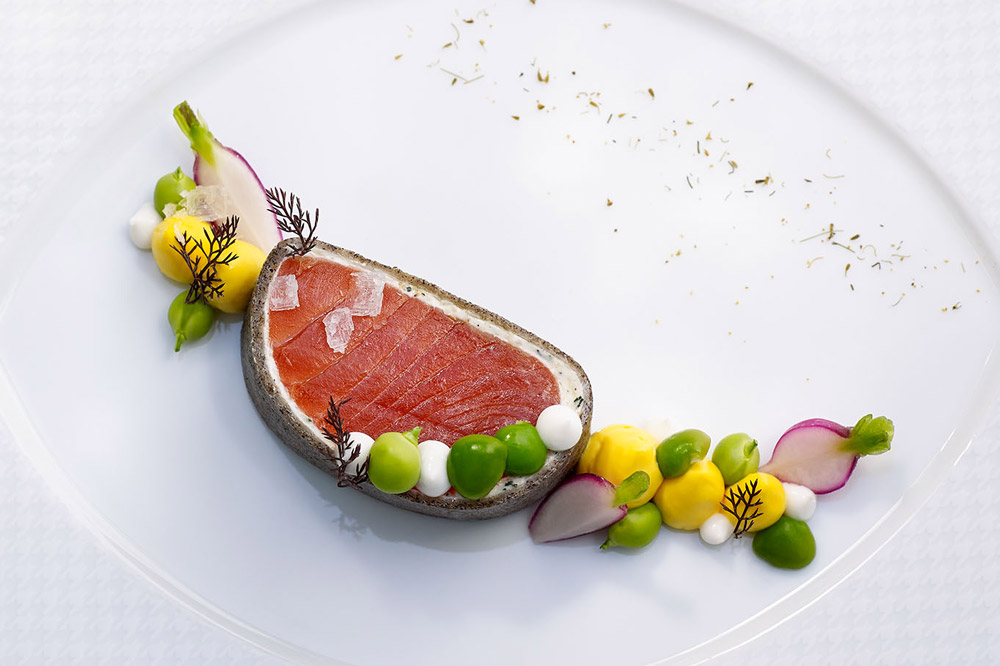 The wild king salmon at <em>The French Laundry</em> in Yountville, California