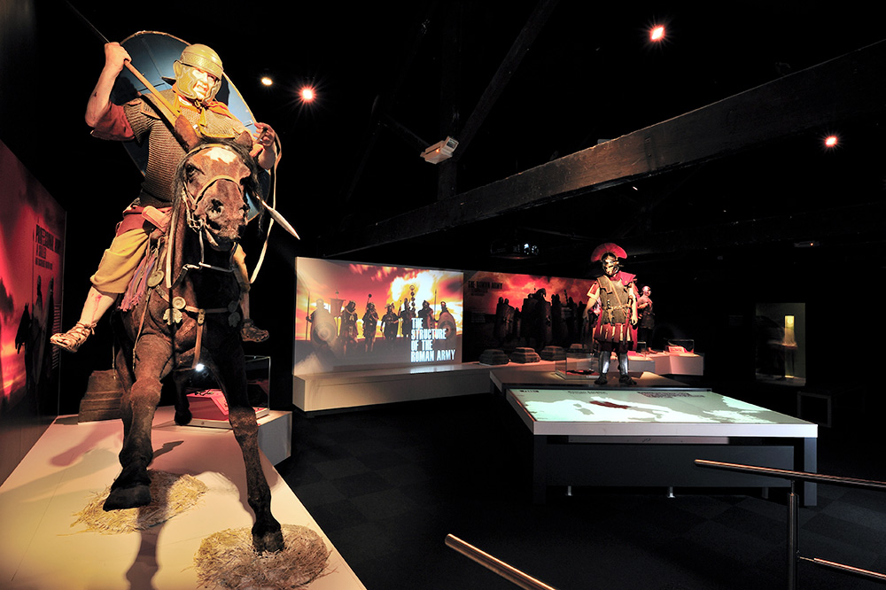 A Roman army exhibit at the Roman Army Museum in Northumberland, England - The Vindolanda Trust