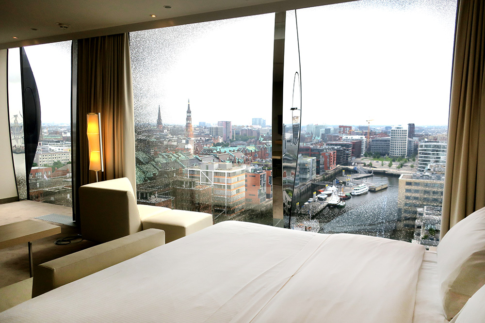 The view from our Elbphilharmonie Suite at The Westin Hamburg in Hamburg, Germany - Photo by Hideaway Report editor