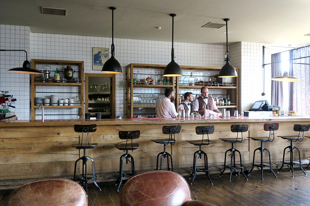The bar at Rooms Hotel Kazbegi