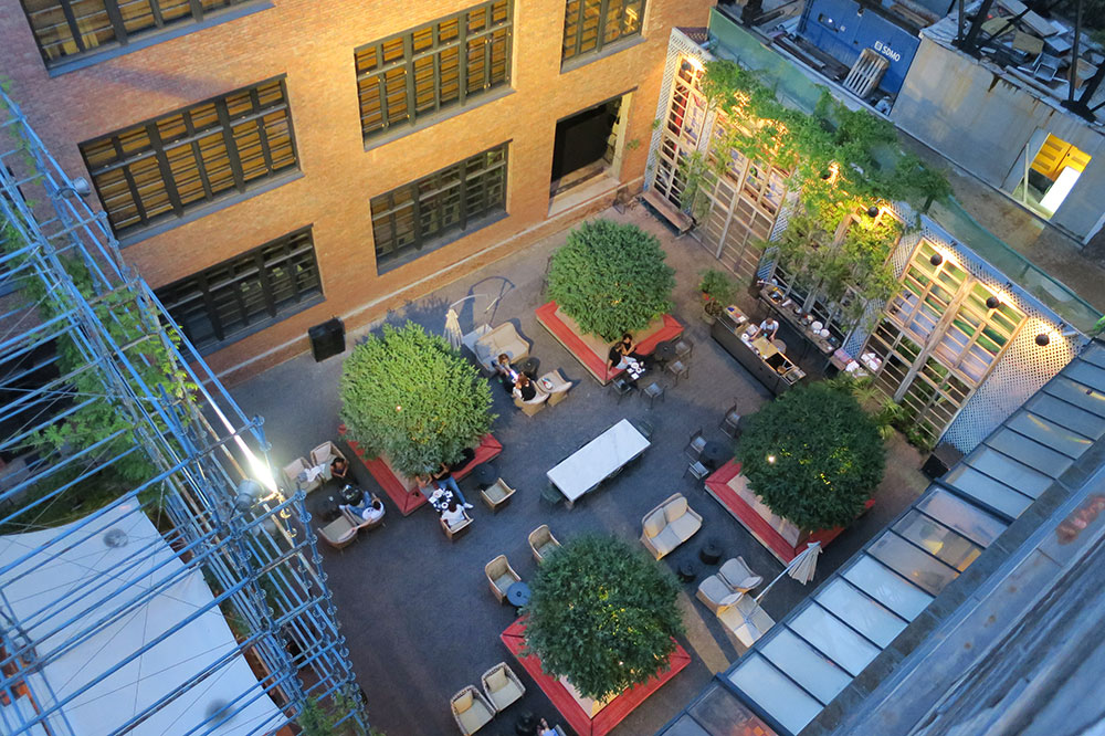 A view of the courtyard bar at Rooms Hotel Tbilisi