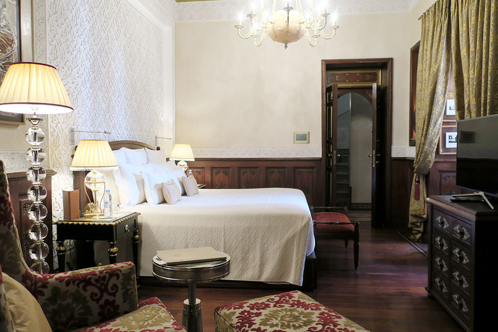 The bedroom of our Premier Riad at Royal Mansour