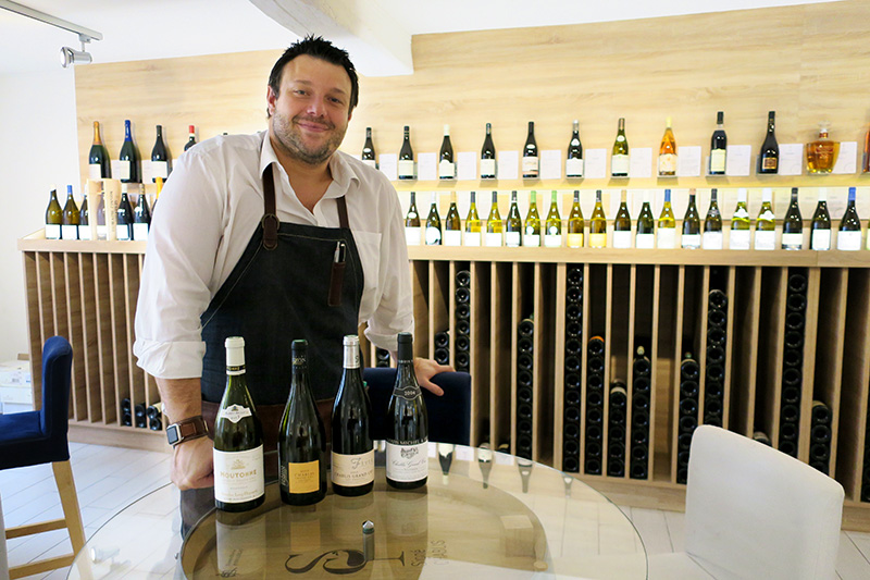 The friendly, English-speaking owner of S. Chablis, Arnaud