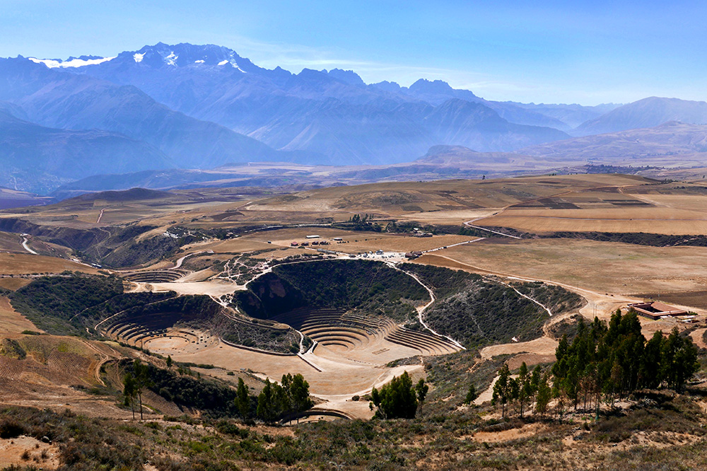 The Inca terraces in the Sacred Valley are extraordinary, and this photo didn't let us forget it.
