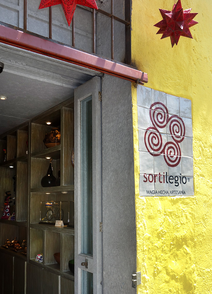 The exterior of Sortilegio in the San Angel neighborhood of Mexico City, Mexico - Photo by Hideaway Report editor
