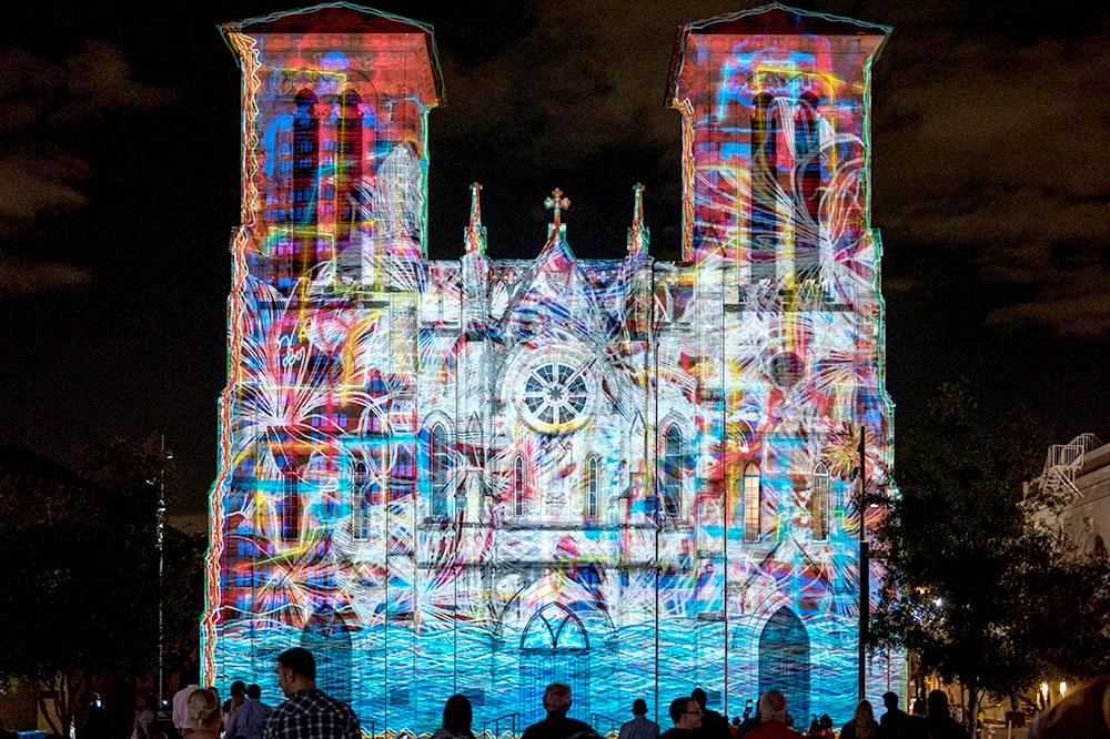 San Fernando Cathedral light show