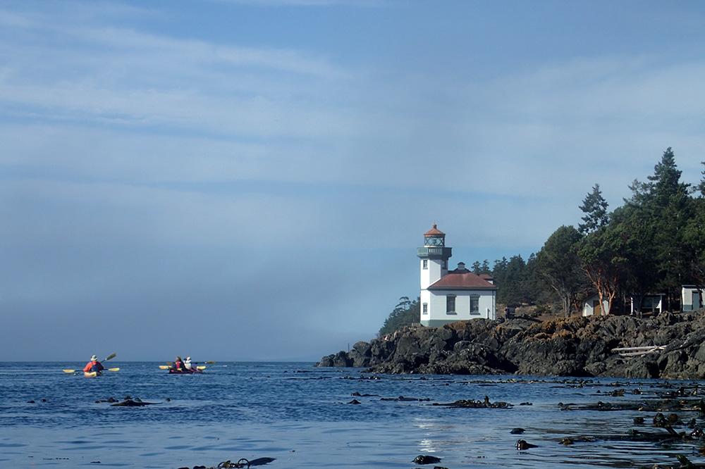 The Lime Kiln Lighthouse on San Juan Island, Washington