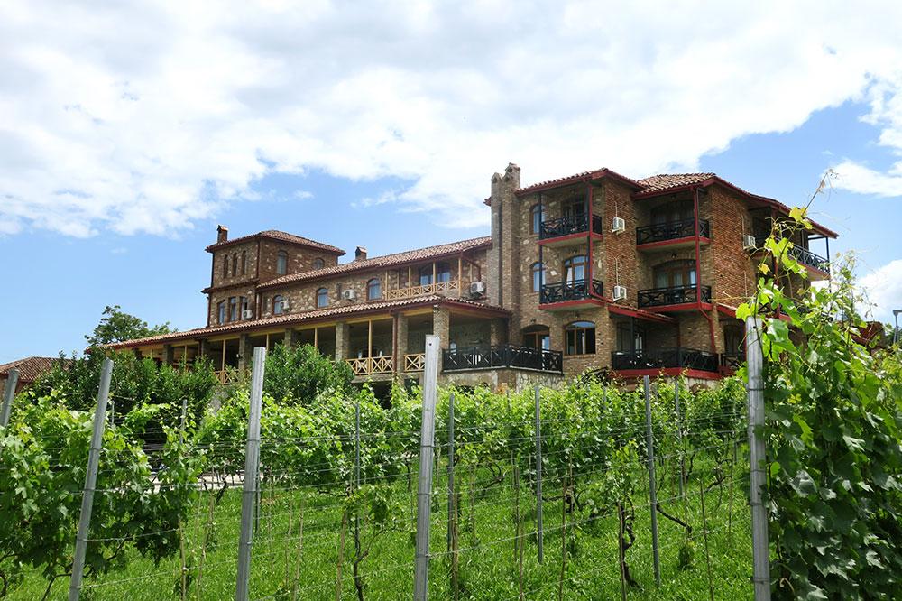Vineyards at the Schuchmann Hotel in Kisiskhevi