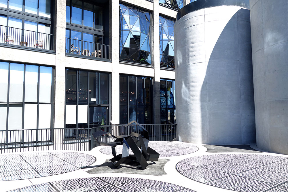 A Kyle Morland metal sculpture outside the Zeitz Museum of Contemporary Art Africa