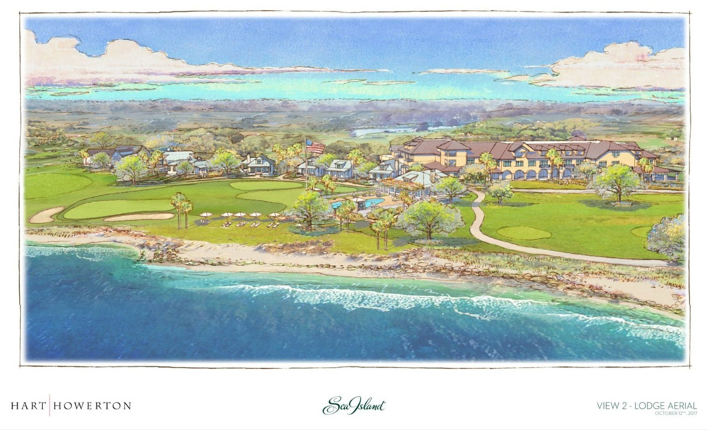 Concept drawings for the renovation of The Lodge at Sea Island