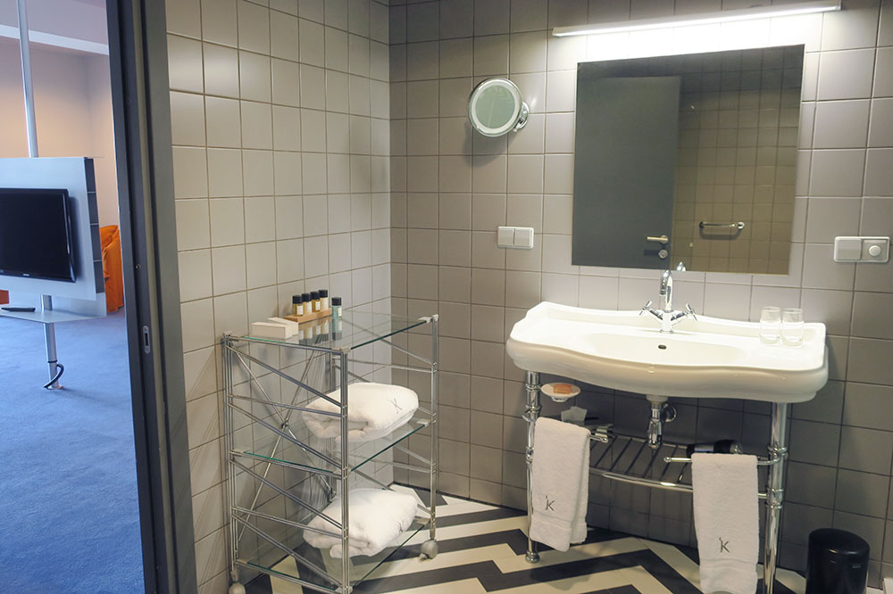 The bath of our King Erekle Suite at Hotel Kabadoni