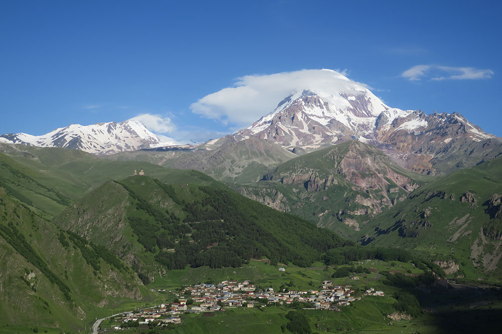 The view from our Signature Room at Rooms Hotel Kazbegi