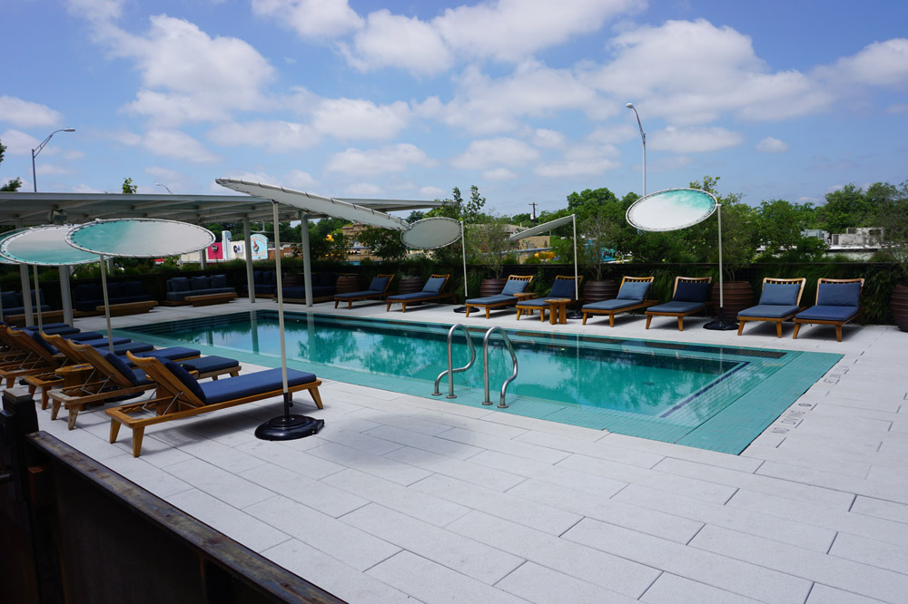 Rooftop pool at the South Congress Hotel - Photo by Hideaway Report editor