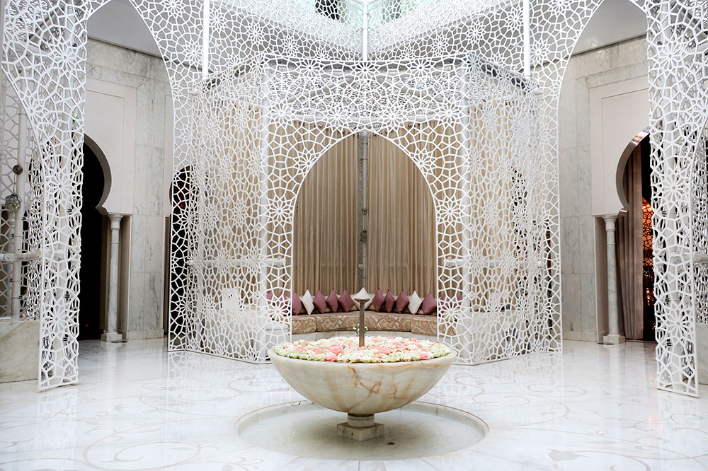 The spa lobby at Royal Mansour
