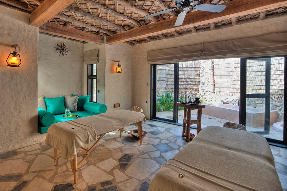 A spa treatment room - Photo by Six Senses Zighy Bay