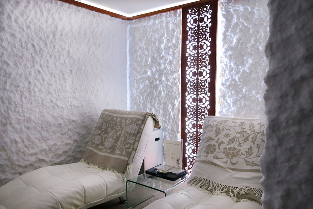 The Salt Room of the spa at Hotel Park