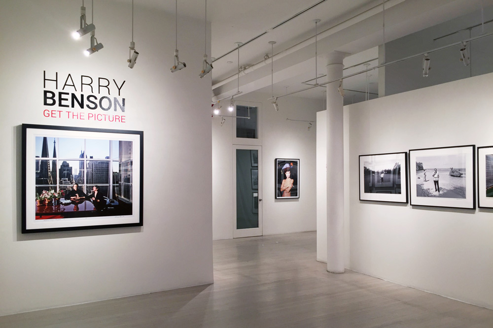 The Harry Benson installation at the Staley-Wise Gallery in New York