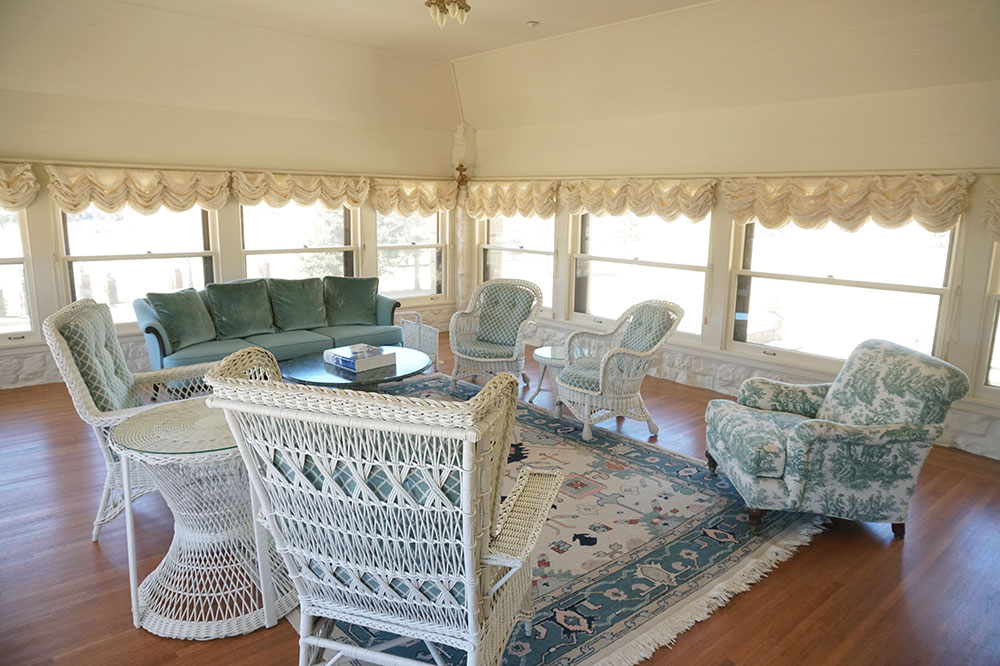 The sunroom in Casa Grande at Vermejo Park Ranch