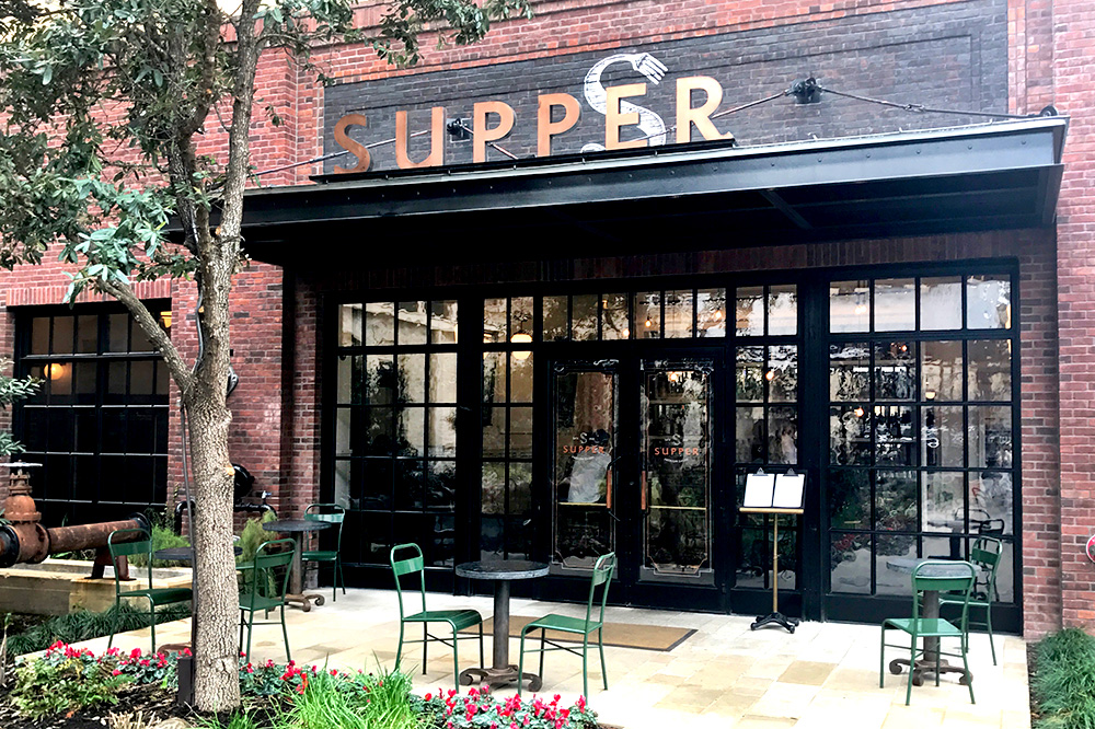 The exterior of Supper Restaurant at Hotel Emma - Photo by Hideaway Report editor