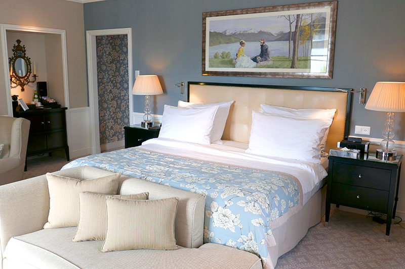 Our Junior Suite at Grand Hôtel du Lac - Photo by Hideaway Report editor