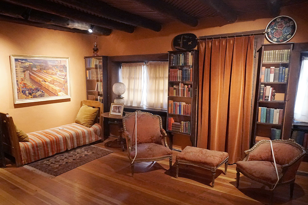 A room at the E.L. Blumenschein Home and Museum in Taos, New Mexico - Photo by Hideaway Report editor